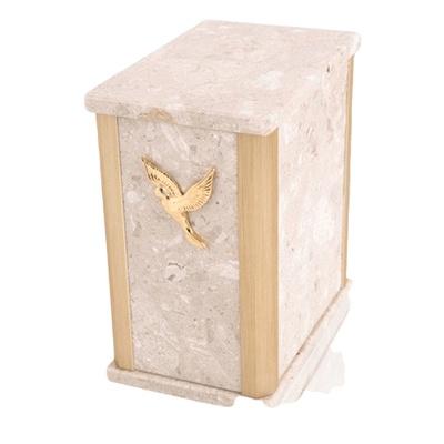 Solitude Perlato Marble Cremation Urns