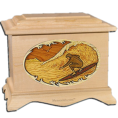 Surfing Maple Cremation Urn for Two