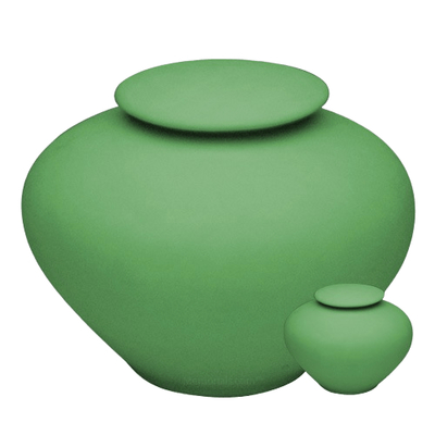 Sage Green Porcelain Clay Cremation Urns