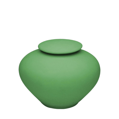 Sage Green Medium Porcelain Clay Urn