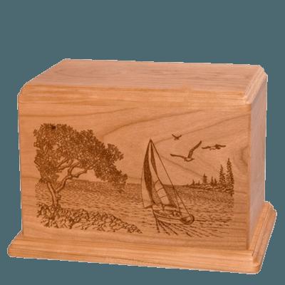Sail Away Companion Cherry Wood Urn