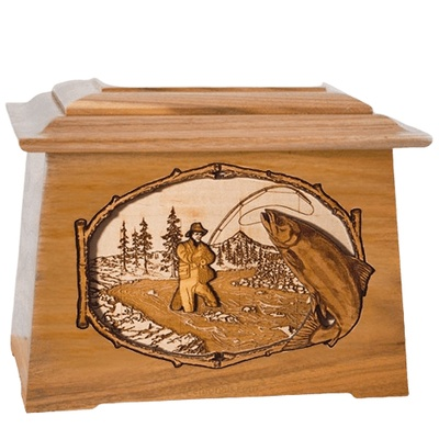 Salmon Stream Oak Aristocrat Cremation Urn