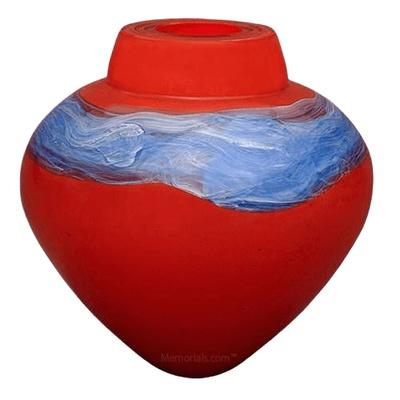 Saturn Glass Cremation Urn
