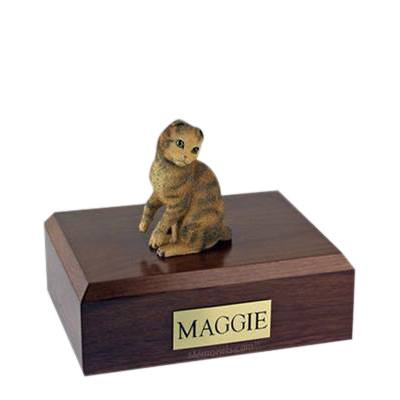 Scottish Fold Brown Tabby Medium Cat Cremation Urn