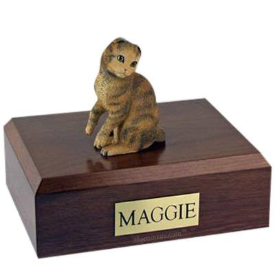 Scottish Fold Brown Tabby X Large Cat Cremation Urn