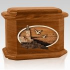 Sea Coast Mahogany Octagon Cremation Urn