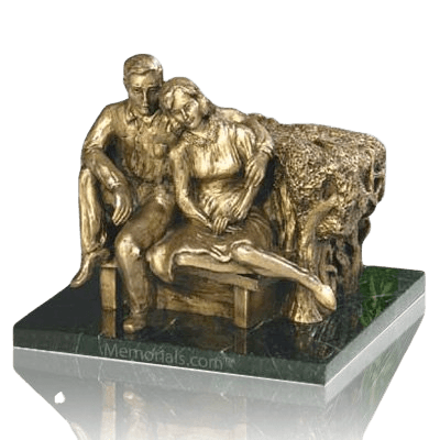 Seated Couple Cremation Urns