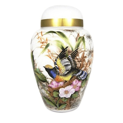 Secret Garden Glass Cremation Urn