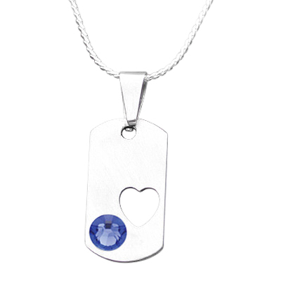 September Heart Cremation Pendant
