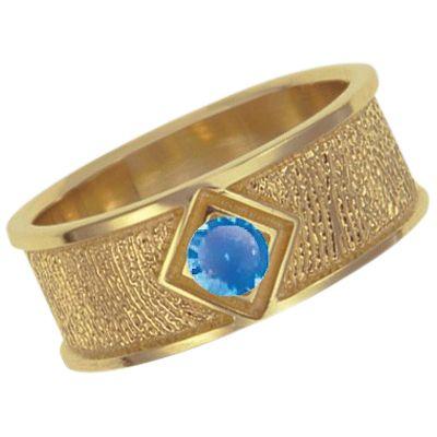 September Birthstone 14k Yellow Gold Ring Print Keepsake