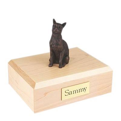 Siamese Bronze Large Cat Cremation Urn