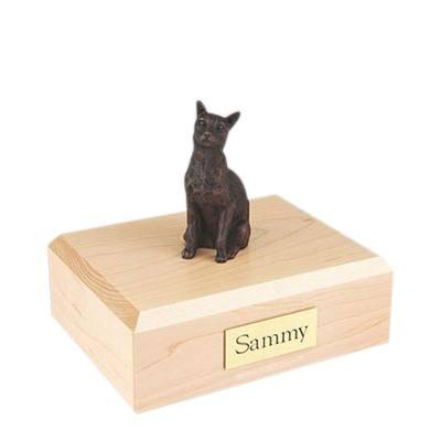 Siamese Bronze Medium Cat Cremation Urn
