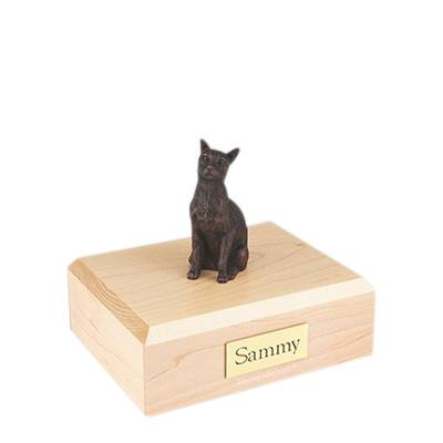 Siamese Bronze Small Cat Cremation Urn
