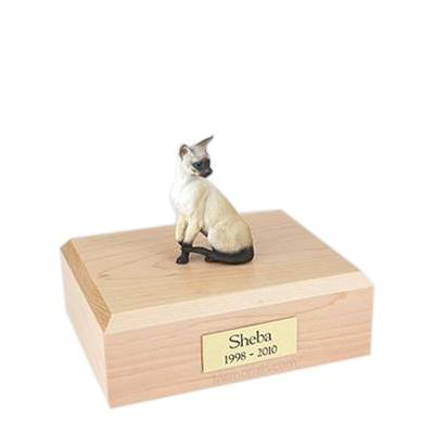 Siamese Seal Point Small Cat Cremation Urn