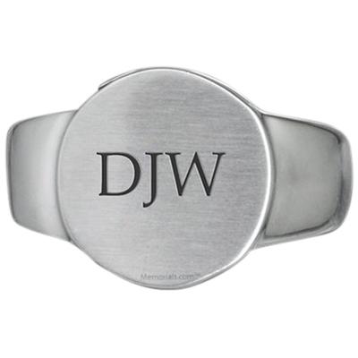 Signet Cremation Ring