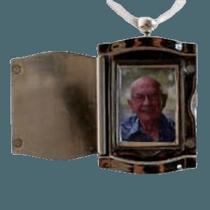 Silver Frame Urn Pendant