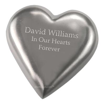 Silver Heart Keepsake Cremation Urn