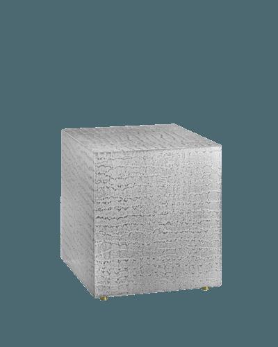 Silver Wood Cremation Urn