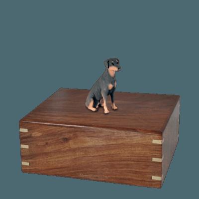 Sitting Doberman Medium Doggy Urn