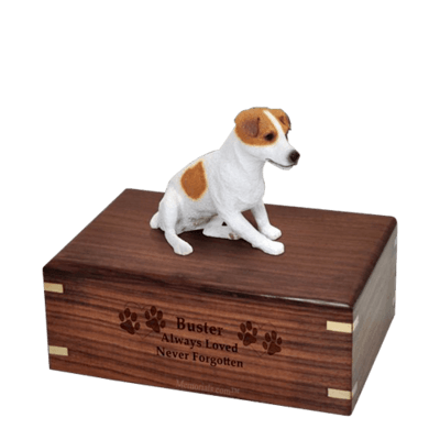 Sitting Jack Russell Medium Doggy Urn