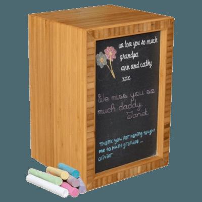 Slate Bamboo Nature Cremation Urn