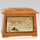 Snowmobile Mahogany Aristocrat Cremation Urn