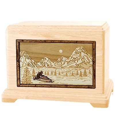 Snowmobile Maple Hampton Cremation Urn