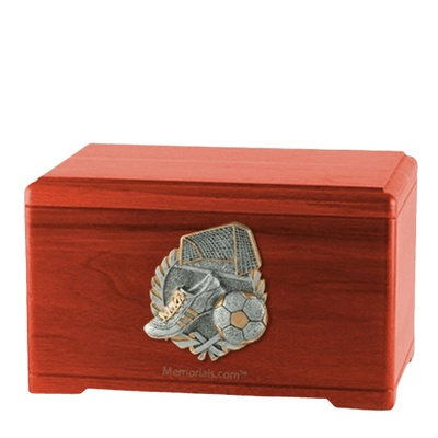 Soccer Fan Cherry Cremation Urn