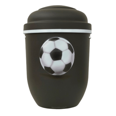 Soccer Biodegradable Urn in Black