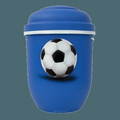 Soccer Biodegradable Urn in Blue