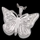 Solitary Butterfly Cremation Pendant