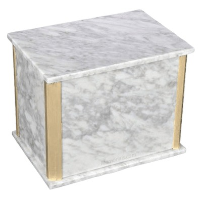 Solitude Bianco Carrara Marble Companion Urn