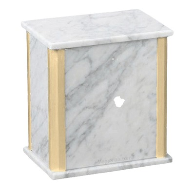Solitude Bianco Carrara Marble Cremation Urns
