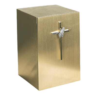 Solitude Cross with PH Bronze Cremation Urn