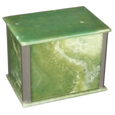 Solitude Onyx Silver Urn For Two