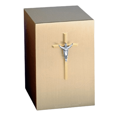 Solitude Crucifix Bronze Cremation Urn