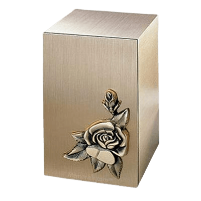 Solitude Rose Bronze Cremation Urn