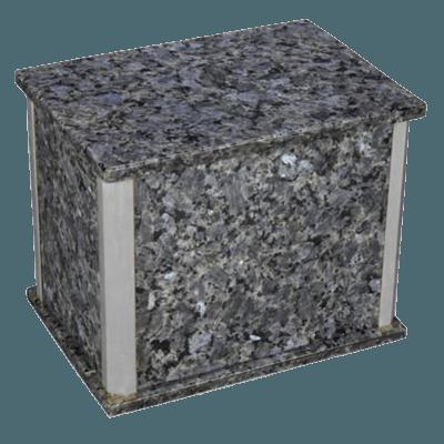 Solitude Silver Blue Pearl Granite Companion Urn