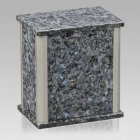 Solitude Silver Blue Pearl Granite Urn