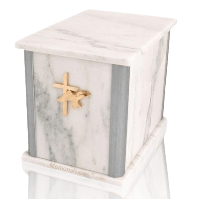 Solitude Silver White Companion Urn