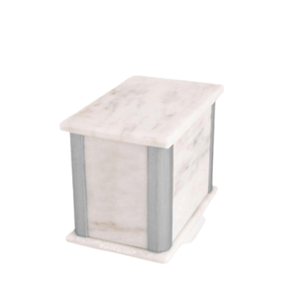 Solitude Silver White Medium Urn