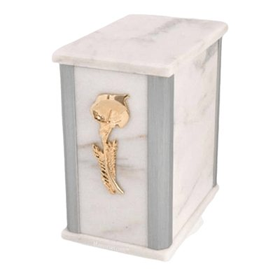 Solitude Silver White Urn