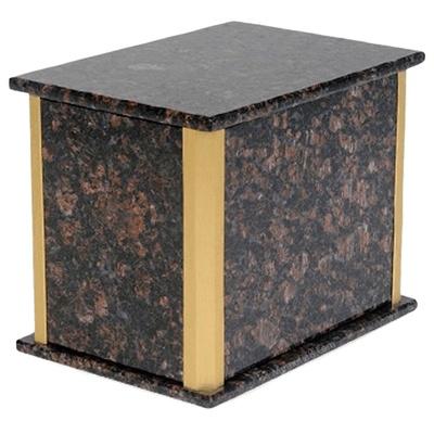 Solitude Tan Brown Granite Companion Urn