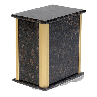 Solitude Tan Brown Granite Urn