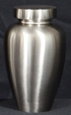 Spartan Small Nickel Cremation Urn
