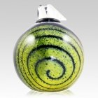Spiral Glass Cremation Urn