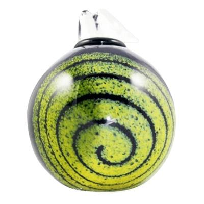 Spiral Glass Cremation Urn