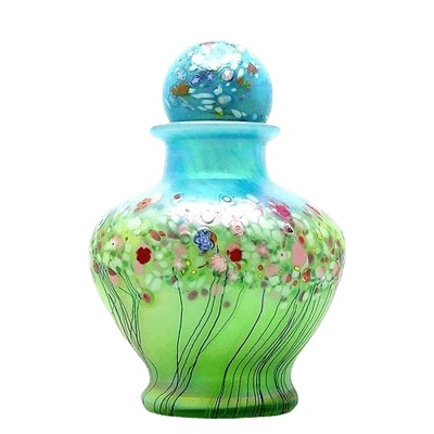 Spring Glass Cremation Urn