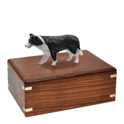 Standing Border Collie Large Doggy Urn