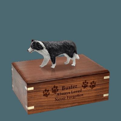 Standing Border Collie Medium Doggy Urn